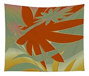 Colored Jungle Orange Splash Tapestry
