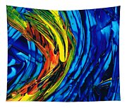 Colorful Abstract Art - Energy Flow 2 - By Sharon Cummings Tapestry