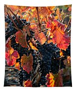 Colorful Autumn Grapes Tapestry