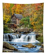Colorful Autumn Grist Mill Tapestry