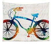 Colorful Bike Art - Free Spirit - By Sharon Cummings Tapestry