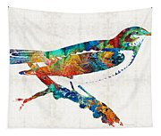 Colorful Bird Art - Sweet Song - By Sharon Cummings Tapestry