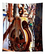Colorful Boat Pully Tapestry
