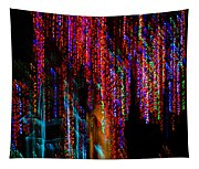 Colorful Christmas Streaks - Abstract Christmas Lights Series Tapestry