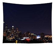 Colorful Citylights Tapestry