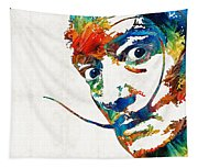 Colorful Dali Art By Sharon Cummings Tapestry