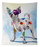Colorful Dalmatian Chihuahua Tapestry