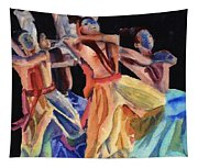 Colorful Dancers Tapestry