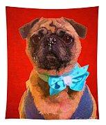 Colorful Dapper Pug Tapestry