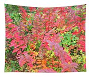Colorful Fall Leaves Autumn Crepe Myrtle Tapestry