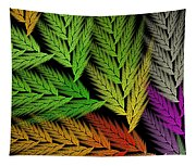 Colorful Feather Fern - Abstract - Fractal Art - Square - 1 Tl Tapestry
