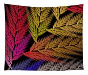 Colorful Feather Fern - Abstract - Fractal Art - Square - 2 Tr Tapestry
