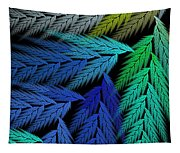 Colorful Feather Fern - Abstract - Fractal Art - Square - 3 Ll Tapestry