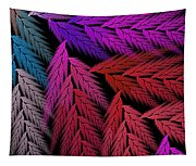 Colorful Feather Fern - Abstract - Fractal Art - Square - 4 Lr Tapestry