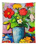 Colorful Flowers From My Garden Tapestry