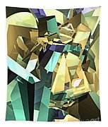 Colorful Geometric Shapes Tapestry