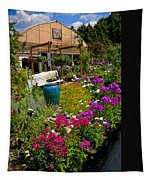 Colorful Greenhouse Tapestry