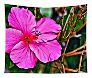 Colorful Hibiscus Tapestry