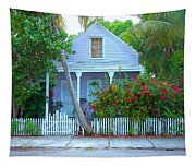 Colorful Key West Cottage Tapestry