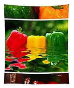 Colorful Kitchen Collage Tapestry