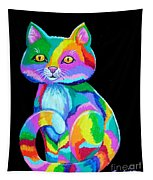 Colorful Kitten Tapestry