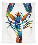 Colorful Lobster Art By Sharon Cummings Tapestry