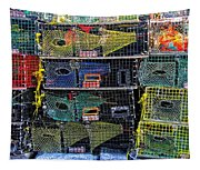 Colorful Lobster Traps Tapestry