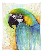 Macaw Painting Tapestry