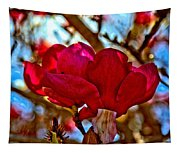 Colorful Magnolia Blossom Tapestry