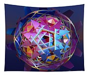 Colorful Metallic Orb Tapestry