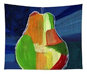Colorful Pear- Abstract Painting Tapestry