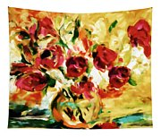 Colorful Spring Bouquet - Abstract  Tapestry