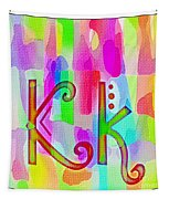 Colorful Texturized Alphabet Kk Tapestry