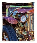 Colorful Vintage Car Tapestry