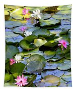 Colorful Water Lily Pond Tapestry