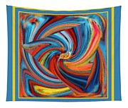 Colorful Waves Tapestry
