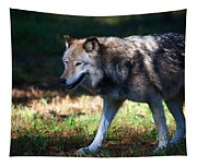 Colorful Wolf Tapestry
