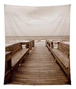 Colorless Seascape Tapestry
