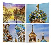 Colors Of Russia Church Of Our Savior On The Spilled Blood  Tapestry
