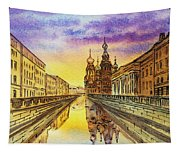Colors Of Russia St Petersburg Cathedral I Tapestry