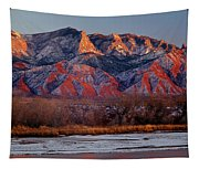 214501-colors Of Sandia Crest  Tapestry