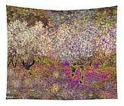 Colourful Almond Trees Tapestry