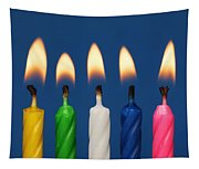 Colourful Candles Lit Tapestry