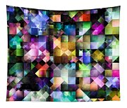 Colourful Fractal Jewels Tapestry