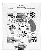 Colt Revolver Patent Art 3  -  1881  Tapestry