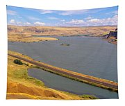 Columbia River In Oregon, Viewed Tapestry