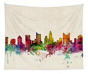 Columbus Ohio Skyline Tapestry