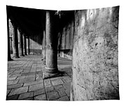 Columns At The Church Of Nativity Tapestry