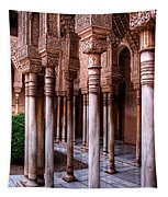 Columns Of The Court Of The Lions Tapestry