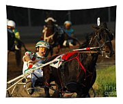 Horse Racing Come On Number 6 Tapestry